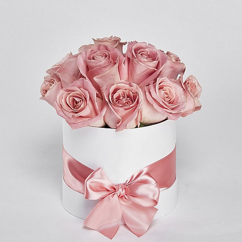 "Шляпная Коробка Розы ""Hermosa"" 11 шт."