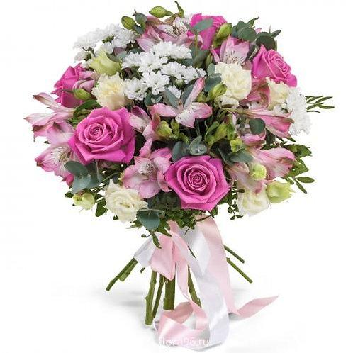 Букет из роз, хризантем, альстромерий (29 шт.)