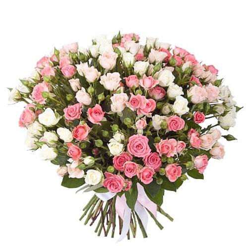 Букет из кустовых роз (29 шт.)