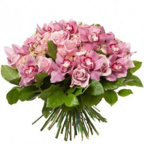 Букет из роз и орхидей (35 шт.)