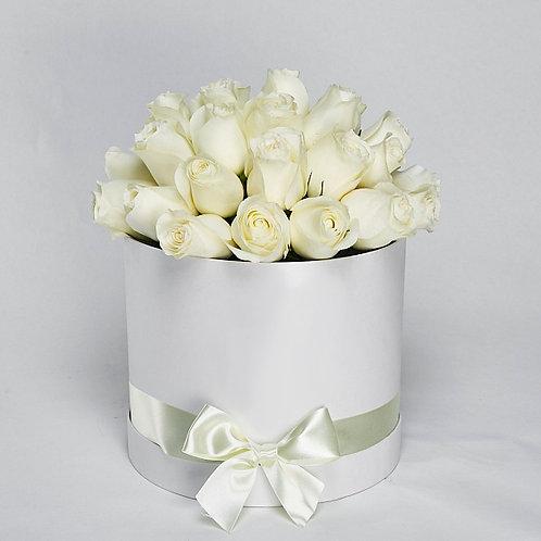 Шляпная Коробка  25 Роз