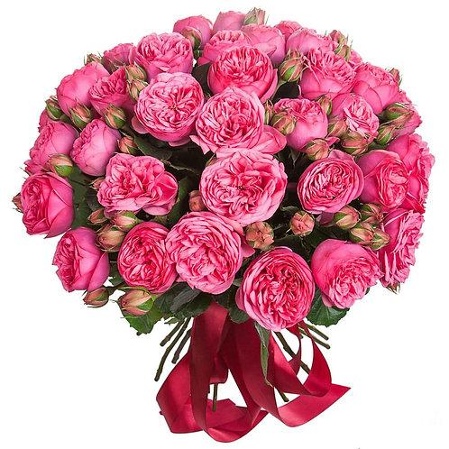 """Букет из пионовидных роз """"Pink Piano"""""""