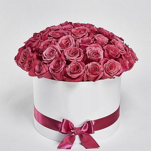 "Шляпная Коробка Розы ""Cherry O"" 51 шт."