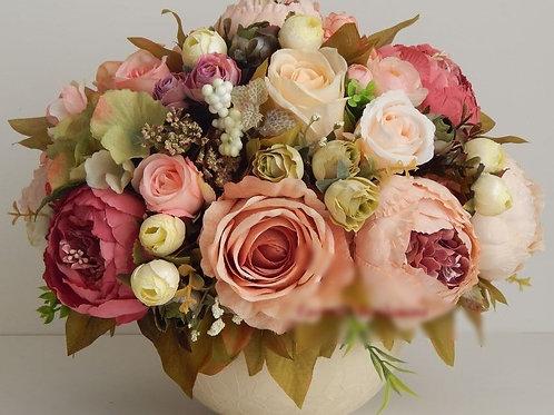 """Цветочная композиция """"Букет из пионов, роз и лютиков"""""""