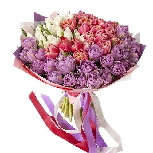 Букет из тюльпанов (59 шт.)
