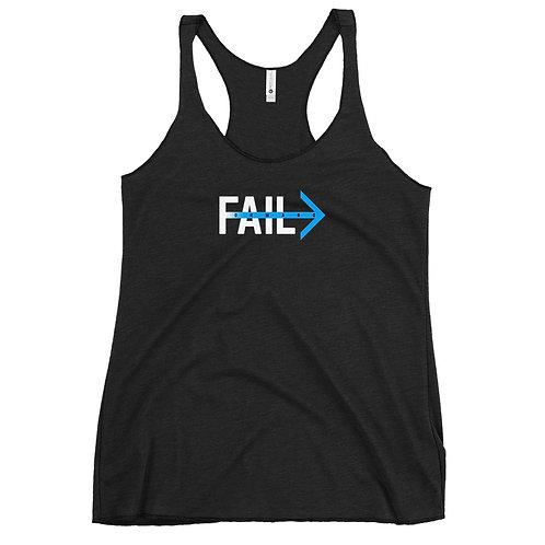 Fail Forward (Women's Black Tank)