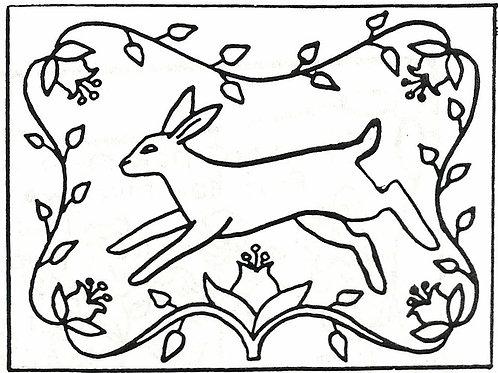 Running Rabbit Pattern REO Designs