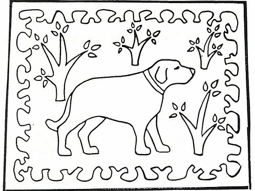 Dog and Trees Pattern REO Designs