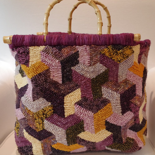 Trapezoid Bag Pattern with Fabric Bottom