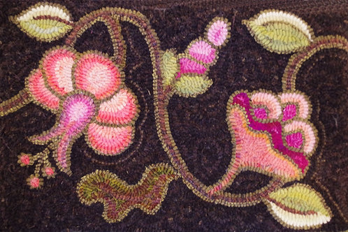 Crewel Flowers Bag Pattern w/ Fabric