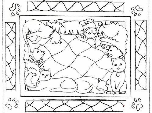 Cat Connection with Border Pattern REO Designs