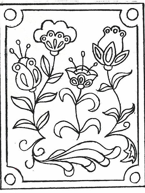 Crewel Garden Pattern REO Designs