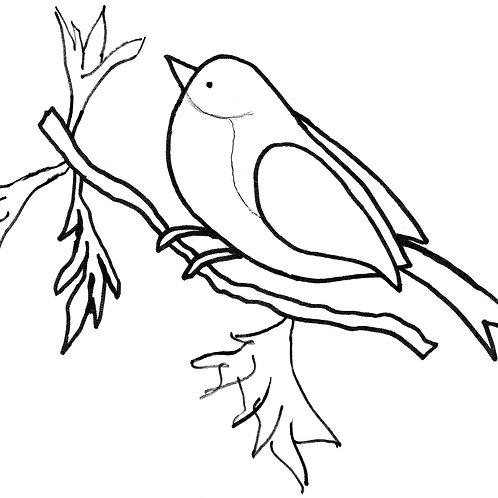 Bird on a Branch Pattern