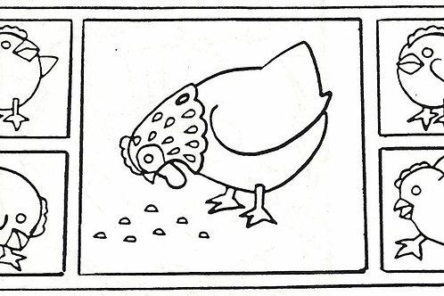 Small Hen & Chicks Pattern REO Designs