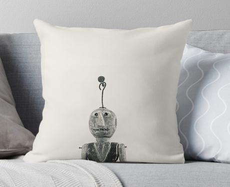 """Wooden Toy"" Throw Pillow"