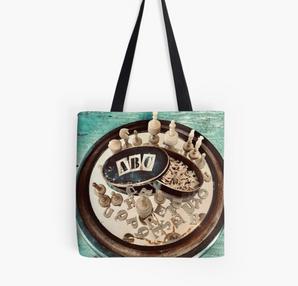 """ABCs and Chess"" Tote Bag"
