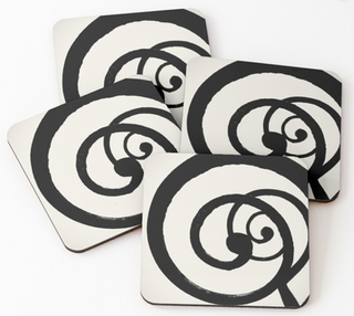 """Spirals"" Coasters (Set of 4)"