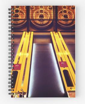 """Skee-Ball at the Beach"" Spiral Notebook"