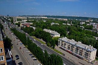 Проспект Ленина с высоты птичьего полета