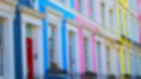 Colorful houses off Portobello Road, in