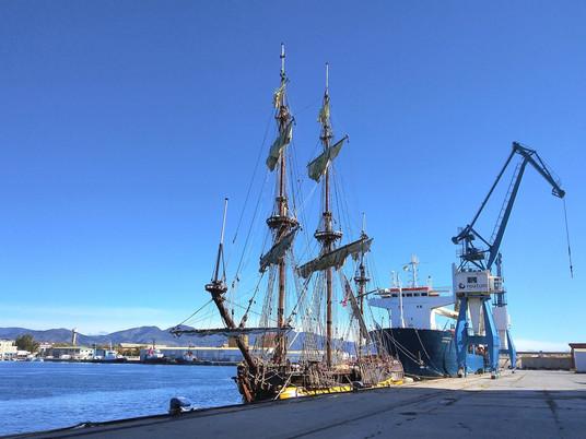 La fragata Shtandart visita Vigo
