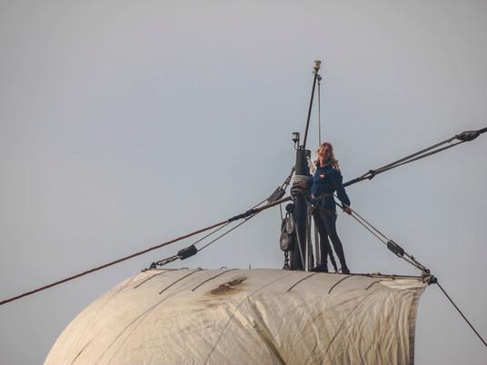 Marina, tripulante a bordo de la Nao Victoria