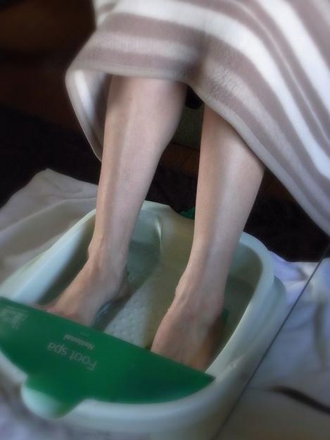 施術前の足湯