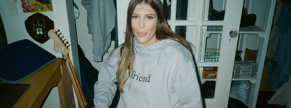 @abbynicastro in @friendconnectionfilm hoodie