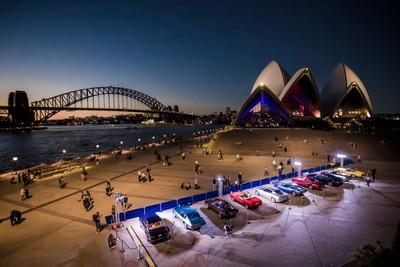 Sydney Opera House hosts a stunning Maserati classic car display and Gala Dinner