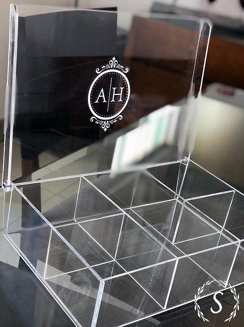 Caixa Acrílico para Lavabo Personalizado a Laser