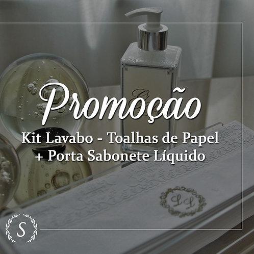 Kit Lavabo - 25und Toalhinhas Lavabo + Porta Sabonete Líquido