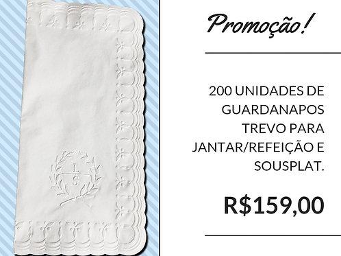 200 UND - Guardanapos Trevo parajantar/refeição e sousplat.