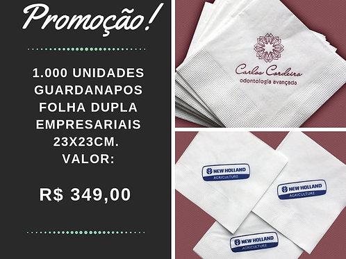 Kit Guardanapos Empresariais Folha Dupla 23x23cm.