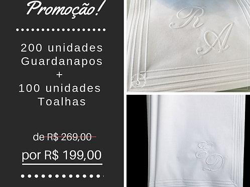 KIT - 200 Guardanapos + 100 Toalhas
