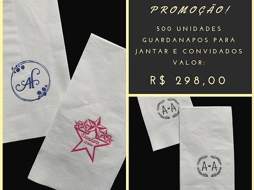 500 UND Guardanapos Folha Dupla para jantar e convidados.