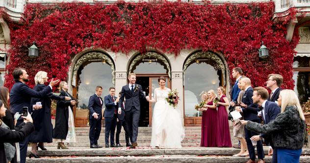 Bryllupsfoto, Höst Bröllop Bjertorp Slott