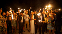 Bryllup - gruppebilde, natt