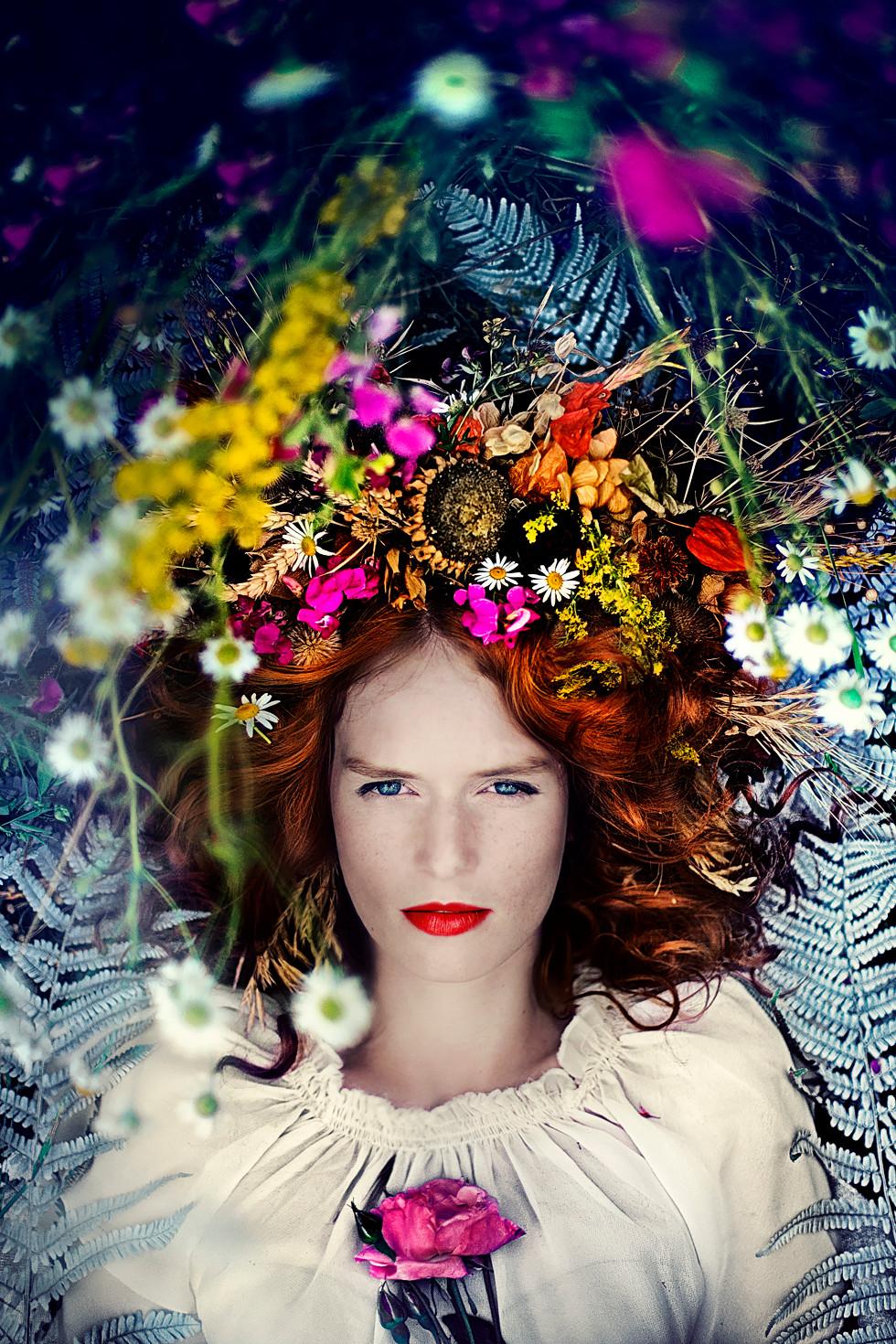 květinové portréty