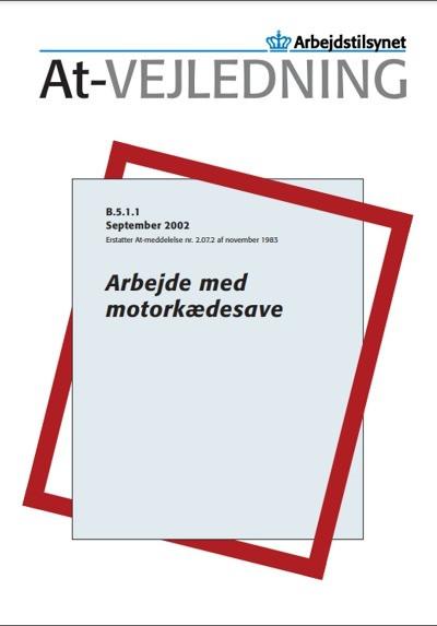 arbejdstilsynets regler om arbejdet med motorsav