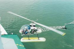 helicoptero aterrizando