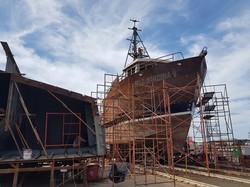 construccion barco sardinero 11
