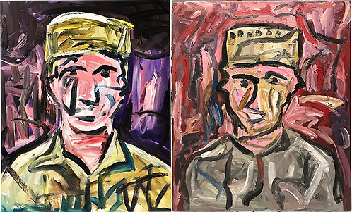 FATHER AND SON DIPTYCH