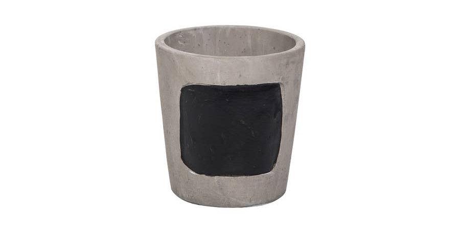 Cement Chalkboard Planter