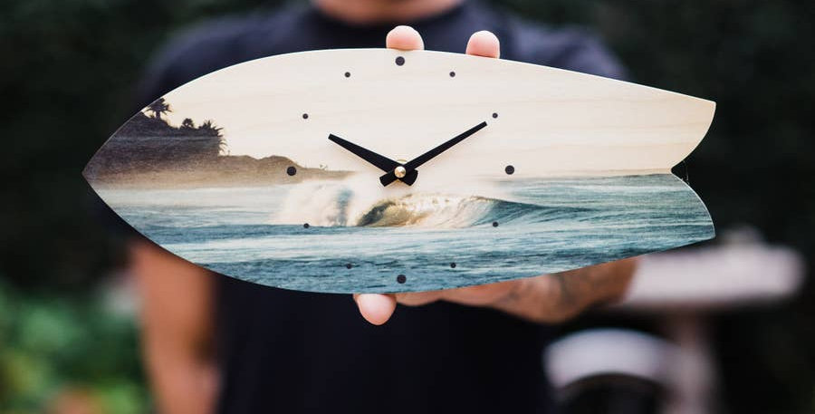 Dawn Patrol wall clock