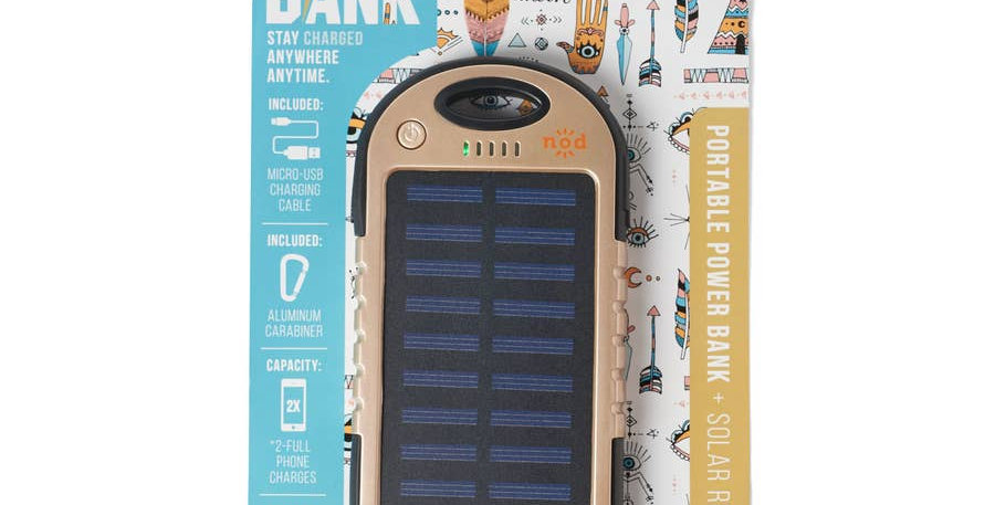 Solar Powered Bank Re-Charger