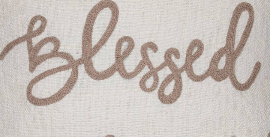 Hand Woven Blessed Pillow