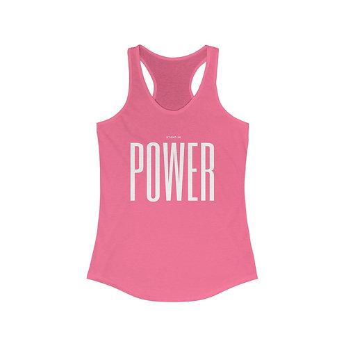 POWER - Women's Ideal Racerback Tank