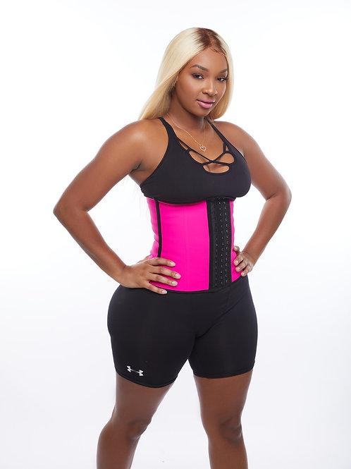 "Latext Waist Trainer""Pink & Black"""