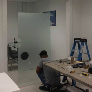 Glass Office wall Installation