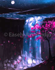 """Moonlit Waterfall"""